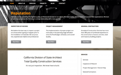 Website Design and Backend Document Repository