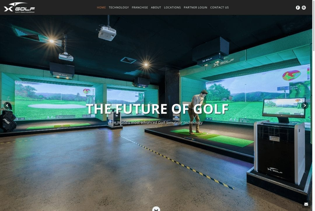 XGolf – Simulator Corporat and Franchise Websites