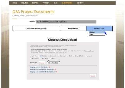 6_Closeout Docs Upload